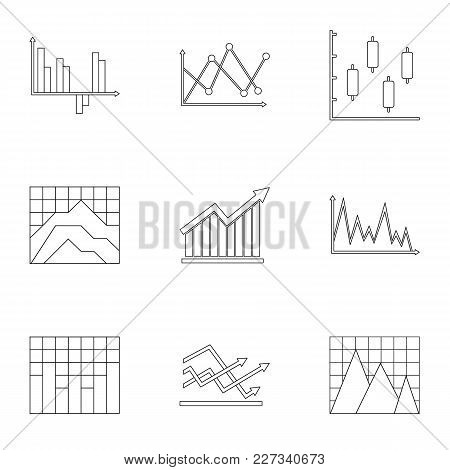 Business Stand Icons Set. Outline Set Of 9 Business Stand Vector Icons For Web Isolated On White Bac