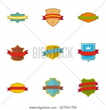 Banner Icons Set. Flat Set Of 9 Banner Vector Icons For Web Isolated On White Background