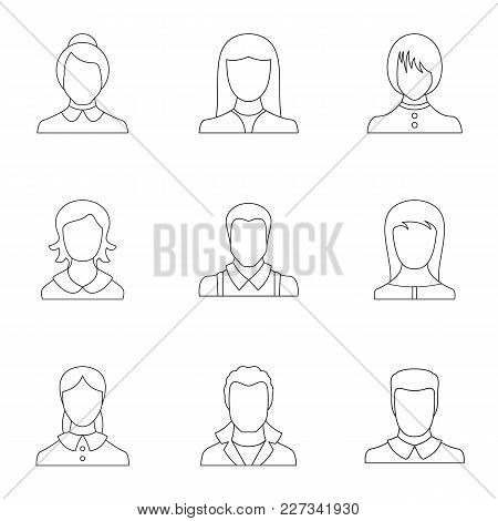 Look Icons Set. Outline Set Of 9 Look Vector Icons For Web Isolated On White Background