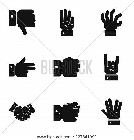 Motion Icons Set. Simple Set Of 9 Motion Vector Icons For Web Isolated On White Background