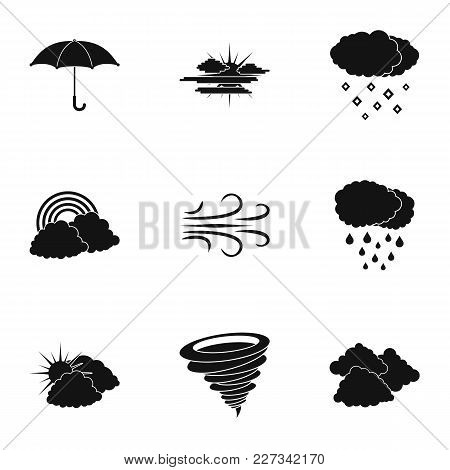 Environment Icons Set. Simple Set Of 9 Environment Vector Icons For Web Isolated On White Background