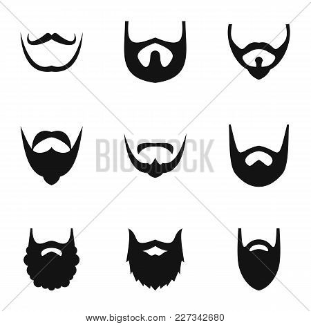 Shave Icons Set. Simple Set Of 9 Shave Vector Icons For Web Isolated On White Background