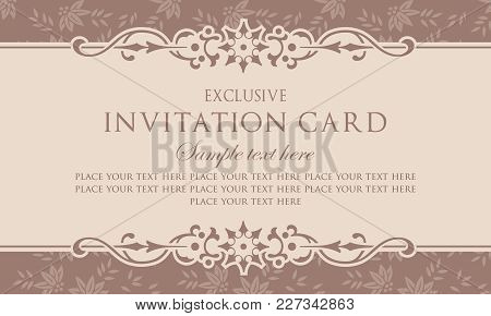 Invitation Card Template - Exclusive Vintage Style