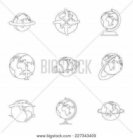Little World Icons Set. Outline Set Of 9 Little World Vector Icons For Web Isolated On White Backgro