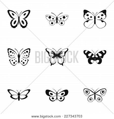 Silkmoth Icons Set. Simple Set Of 9 Silkmoth Vector Icons For Web Isolated On White Background