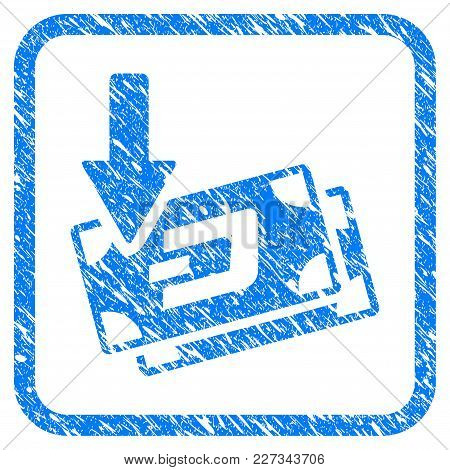 Get Arrow Dash Banknotes Rubber Seal Stamp Imitation. Icon Vector Symbol With Grunge Design And Dust