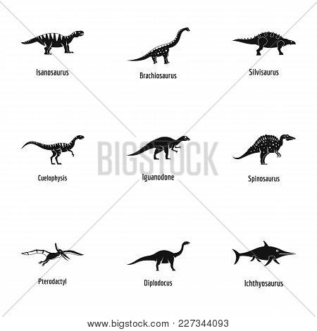 Cool Lizard Icons Set. Simple Set Of 9 Cool Lizard Vector Icons For Web Isolated On White Background