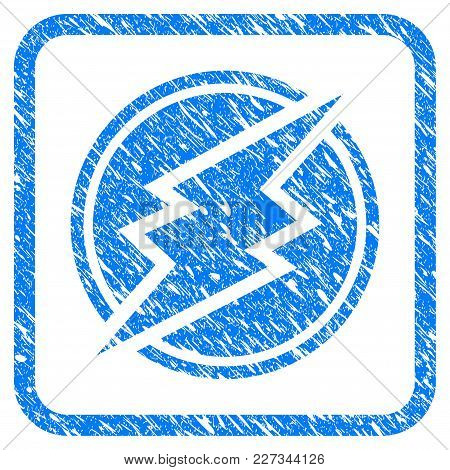 Electroneum Rubber Seal Stamp Imitation. Icon Vector Symbol With Grunge Design And Unclean Texture I