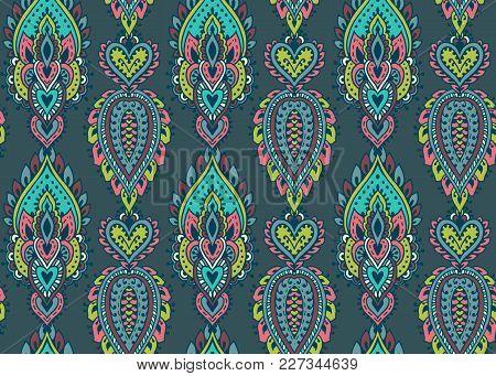 Henna Mehndi Vector : Vector seamless pattern hand drawn & photo bigstock