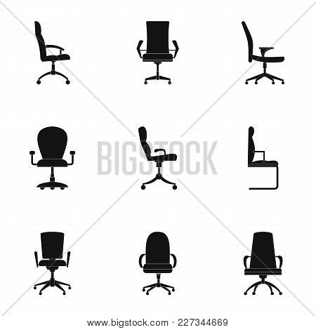 Stool Icons Set. Simple Set Of 9 Stool Vector Icons For Web Isolated On White Background