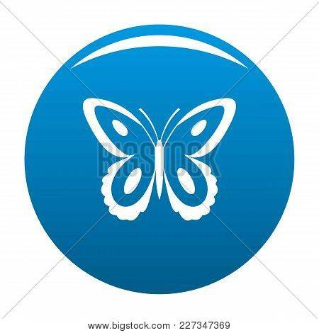 Spotted Butterfly Icon Vector Blue Circle Isolated On White Background