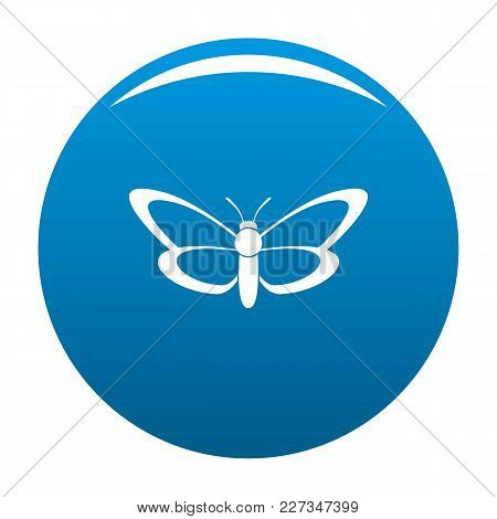 Nice Butterfly Icon Vector Blue Circle Isolated On White Background