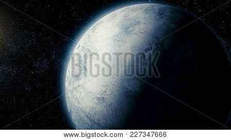 Solar System - Space satellite Ariel. It is the eighth and farthest planet from the Sun in the Solar System. Uranium has 27 known satellites. poster