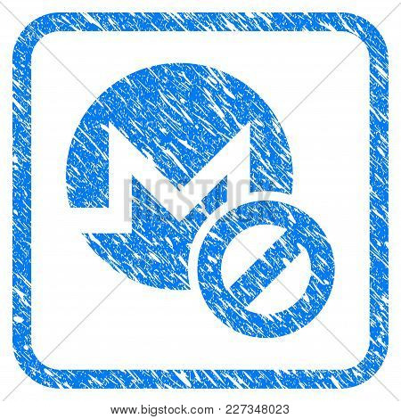 Forbidden Monero Rubber Seal Stamp Watermark. Icon Vector Symbol With Grunge Design And Dust Texture