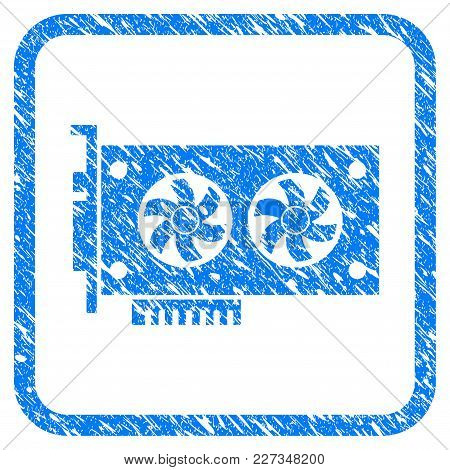 Dual Gpu Videocard Rubber Seal Stamp Watermark. Icon Vector Symbol With Grunge Design And Dirty Text