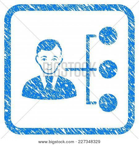 Distribution Manager Rubber Seal Stamp Watermark. Icon Vector Symbol With Grunge Design And Unclean