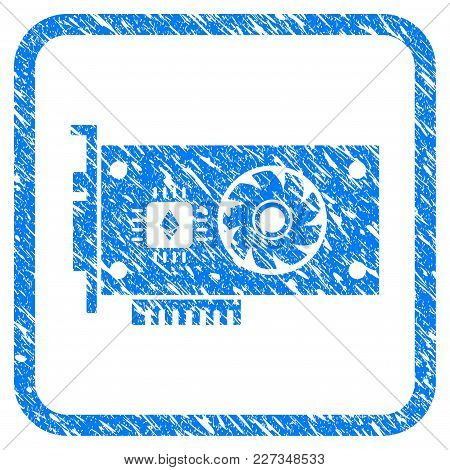 Ethereum Gpu Videocard Rubber Seal Stamp Watermark. Icon Vector Symbol With Grunge Design And Dust T