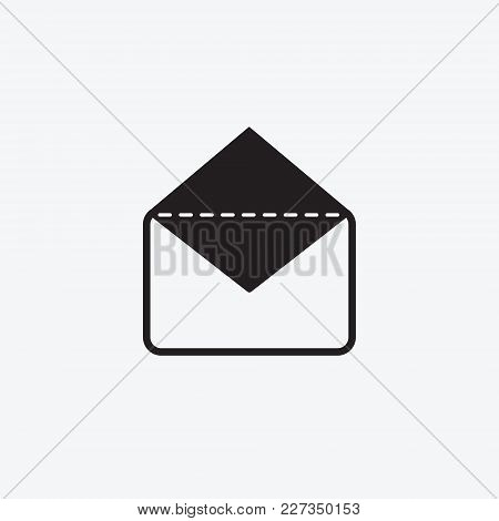 Icon Graphic Envelope. Black And White Pictogram For Web Design. Vector Flat Illustrations, Logo