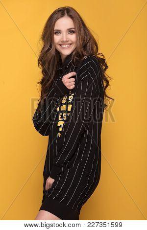 Smiling Young Beautiful Girl Posing.