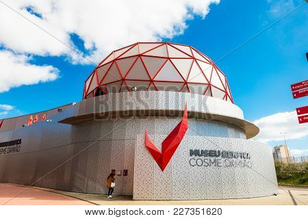 Lisbon , Portugal - February 10, 2018:   Exterior Of The Museum Of Sport Lisboa E Benfica Football C