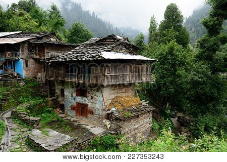 Traditional House In Old Manali In India, Himachal Pradesh