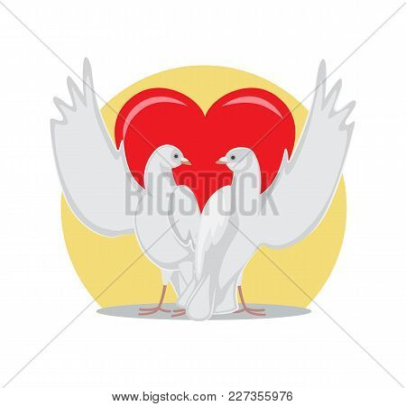 Two Doves Rise Wings Vector Photo Free Trial Bigstock