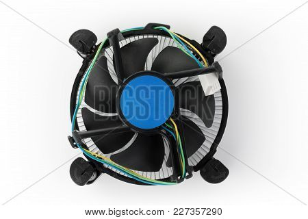 New Modern Fan For Processor On White Background.