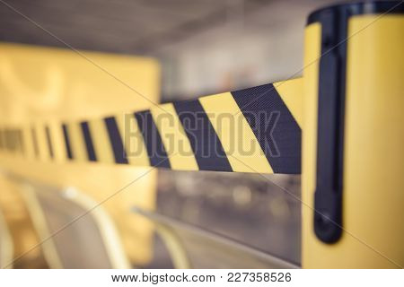 Barrier Tape For No Entry. Barrier Tape For No Entry. Restricted Area