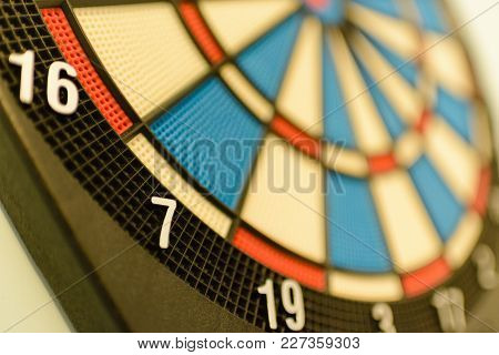 Close Up Of A Dartboard. Marketing Concept.