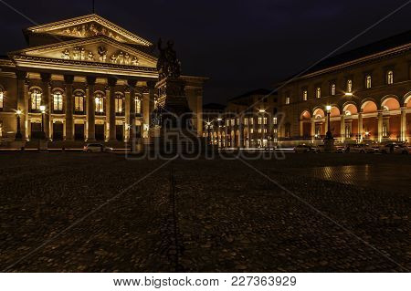 Munich, Germany, January 30, 2018. National Theatre Munich On Max-joseph-platz.
