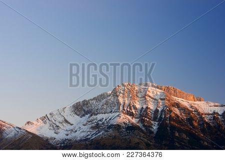 Pena Blanca Peak, Tendenera Mountains, in Tena Valley, Panticosa, Aragon, Huesca, Spain.