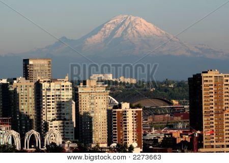 Mount Rainier And Seattle 1