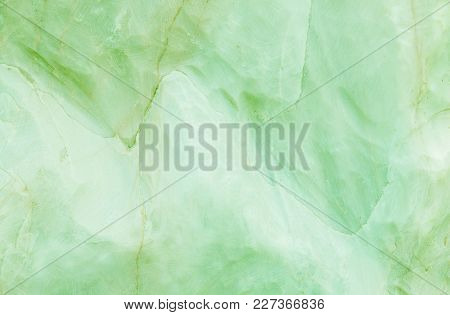 Closeup Surface Marble Pattern At Green Marble Stone Wall Texture Background