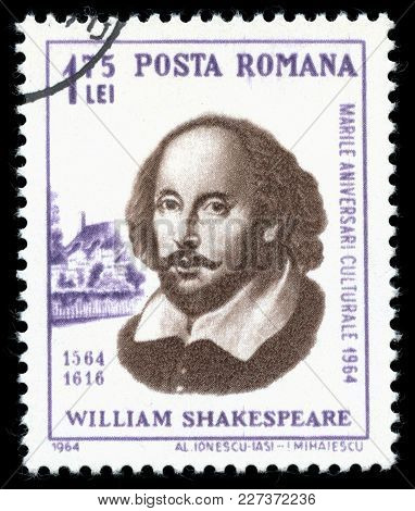 London, Uk, July 30 2014 - Vintage 1964 Romania Cancelled Postage Stamp Showing A Portrait Image Of
