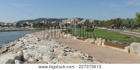 Panoramic View Of Seafront Of San Benedetto Del Tronto Sea Adriatic - Ascoli Piceno -italy