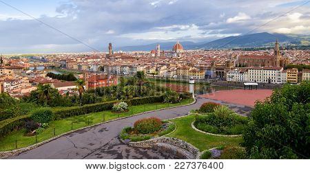 A Panoramic View Of  Florence In Italy