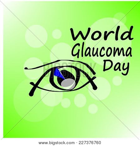 Illustration Of A Background For World Glaucoma Day.