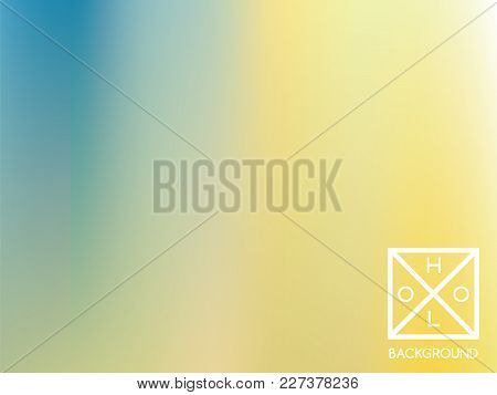 Holographic Backdrop. Holo Iridescent Cover. Gradient Soft Pastel Colors Backdrop. Minimal Creative