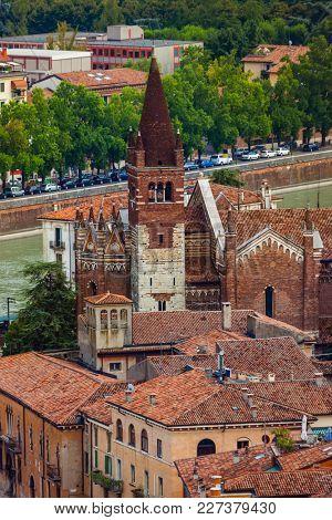 Verona cityscape - Italy - architecture background