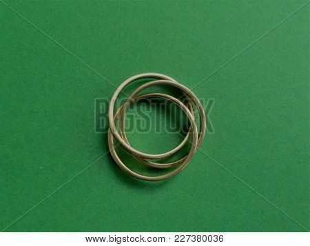 Holy Trinity Ring. Which Is 3 Gold Rings Fixed Together To Make One Ring. This One Has 52 Diamonds I