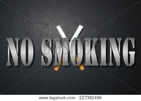 Leave The Cigarette For A Smoke-free Life, Slogan Brochure Studies, Nice And Meaningful Images To Qu