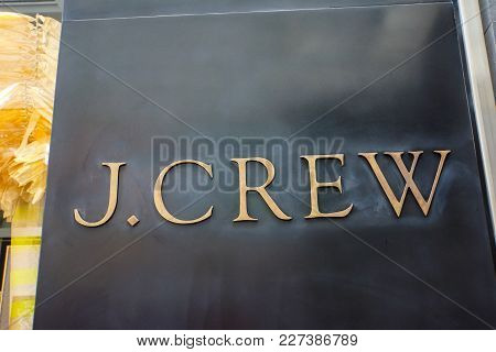 New York, Usa - May 2, 2013: J.crew Store In New York. It Is An American Fashion Company Founded At