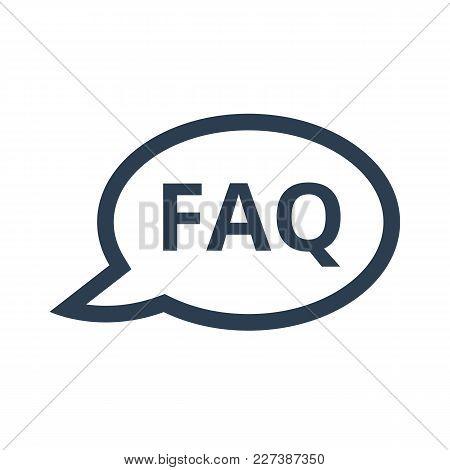 Faq Icon On White Background.