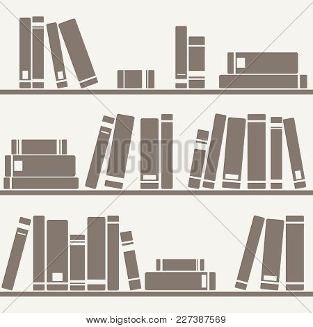 Tile Vector Pastel Pattern Shelf With Books