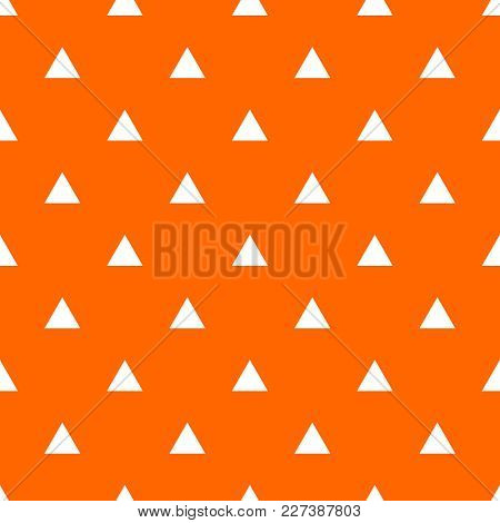 Tile Vector Pattern With White Triangles On Orange Background