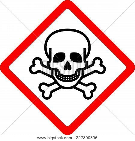 Toxic, New Safety Symbol, Simple Vector Illustration