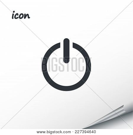 Vector Icon Power On A Wrapped Silver Sheet Eps