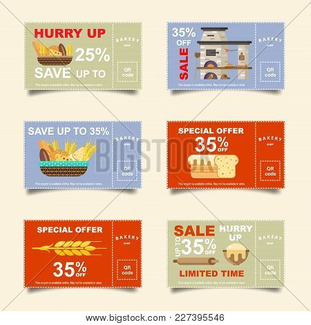 Bakery, Bakery, Bread, Discount Cards. Sale Online Ticket. Banner For Social Networks.