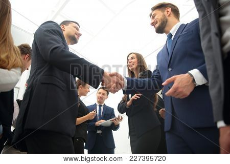 business concept. welcome and handshake of business partners