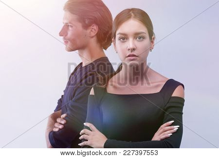 closeup.conflictuale young couple